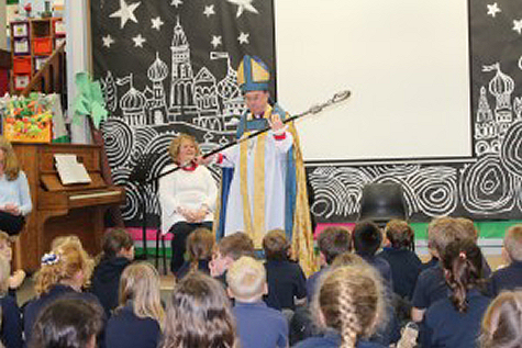 A visit from Bishop Wyn to St Florence School