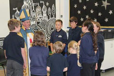 A visit from Bishop Wyn to St Florence School.